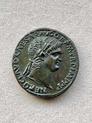 NERO, CLAVDIVS CAESAR DRVSVS GERMANICVS (54 – 68 A.D.) - Ancient Replicas - ancientreplicas.co.uk